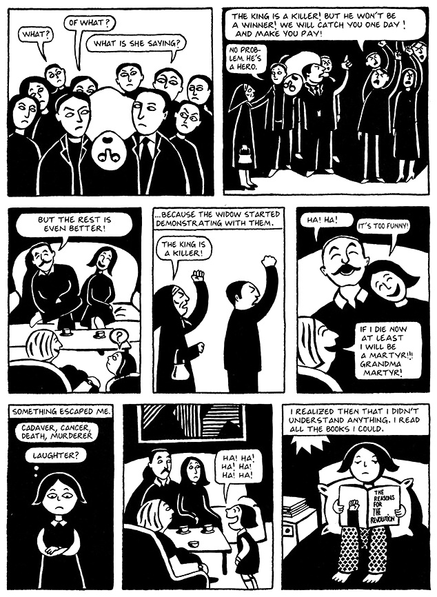 Read Chapter 4 - Persepolis, page 30, from Marjane Satrapi's Persepolis 1 - The Story of a Childhood