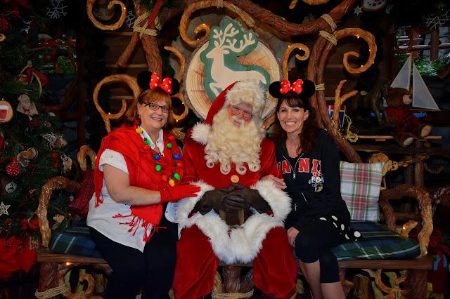Character Photos Disneyland Christmas - we love Santa