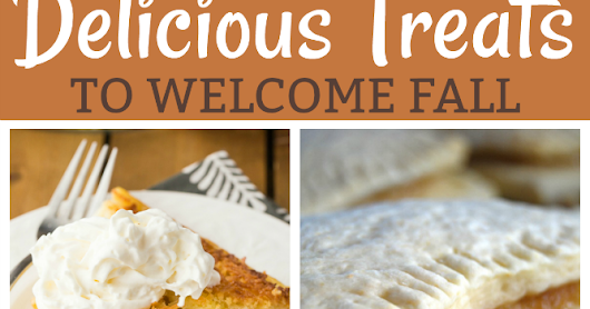 Delicious Treats to Welcome Fall & Weekly Link Party