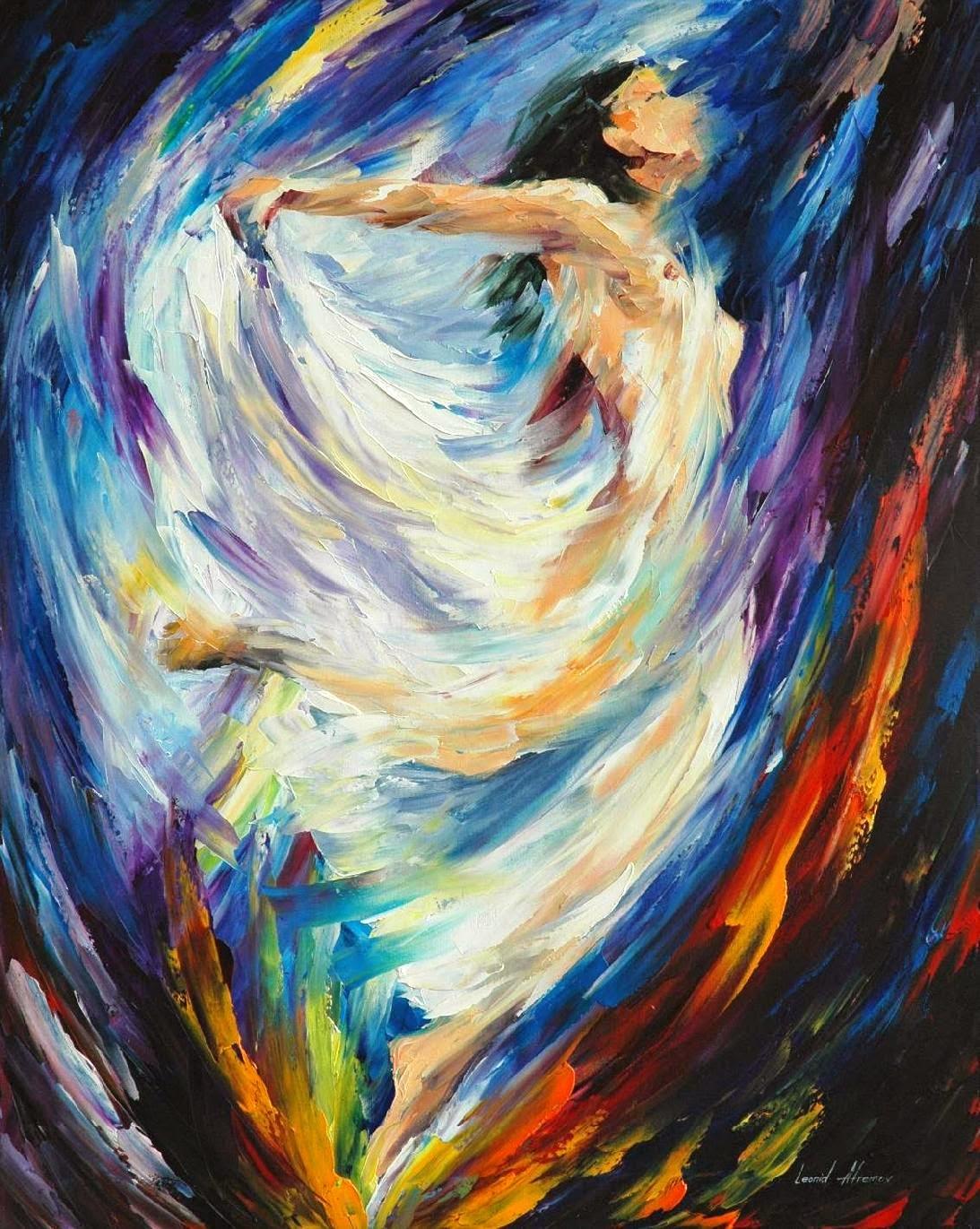 Anjo do Amor - Pinturas de Leonid Afremov | O mestres da  espátula