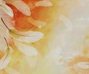 Dibujo de plumas blancas volando