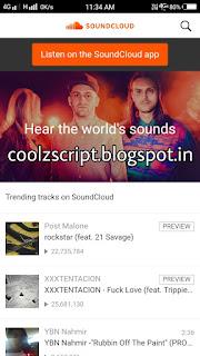 Soundcloud script