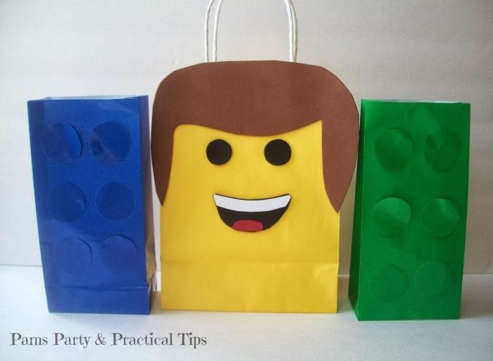 how to make your own LEGO Movie Party Bags