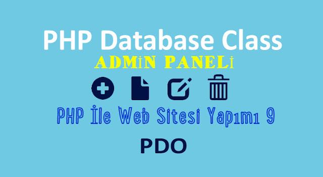 php ile admin paneli ve uye girisi