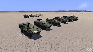 Arma3へ車両追加MODのStriker 装輪装甲車