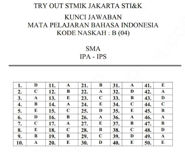 Soal Dan Jawaban Latihan Un Sma 2018 Mata Pelajaran Bahasa Indonesia Prodi Sma Ipa Pendidikan