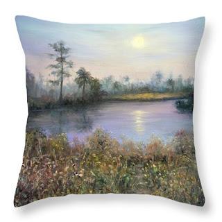 contemporary home decor throw pillow of nature moon