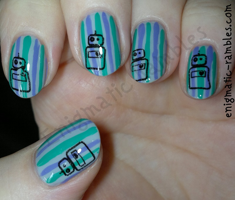 striped-robot-stamped-stamping-nails-nail-art-bundle-monster-415-bm415