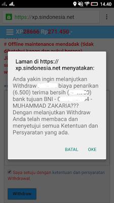cara mudah melakukan Penarikan Uang dari Situs Xpsindonesia