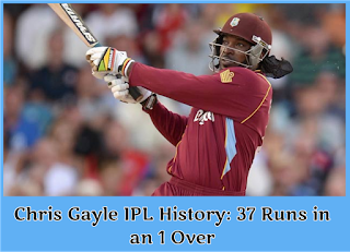 World Record 1 Over 37 Run By Chris Gayle