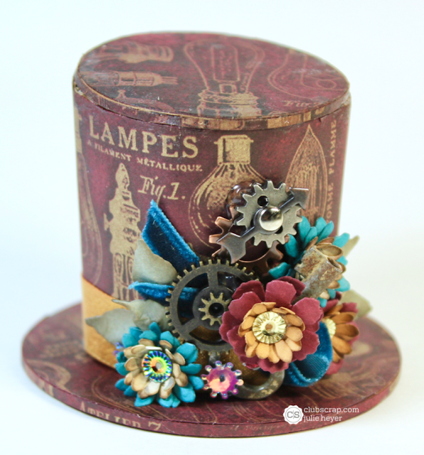 #ideology #paperflowers #steampunk #clubscrap #gears