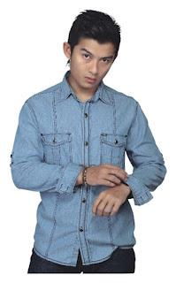 Kemeja jeans pria, kemeja jeans murah, kemeja jeans terbaru