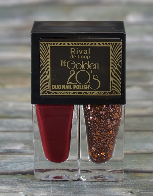 Rival de Loop The Golden 20's LE Duo Nail Polish 01 dark red