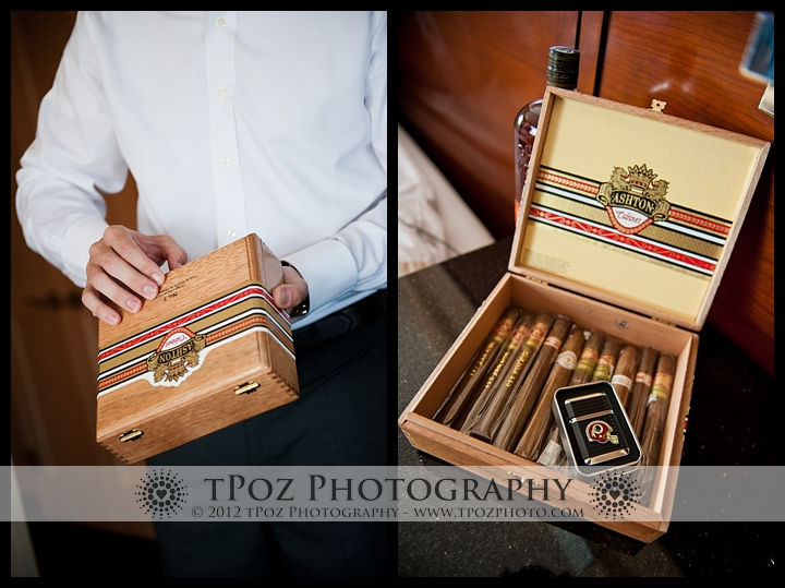 Bride's Gift for the groom Annapolis Wedding