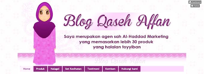 Tempahan Design Blog Qaseh Affan