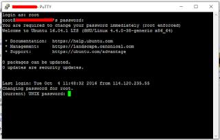 Cara Mengganti Password VPS Yang Baru Dibuat Di DigitalOcean