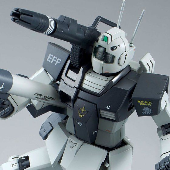 P-Bandai: MG 1/100 RGC-80 GM Cannon [White Dingo Colors]