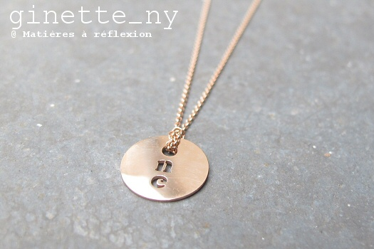 SOLDES Ginette NY collier One on a chain