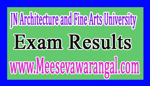 JN Architecture and Fine Arts University MA Urban Design 1st Sem Supply Exam Results