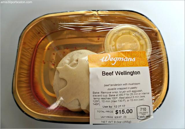 Bandeja de Beef Wellington del Wegmans