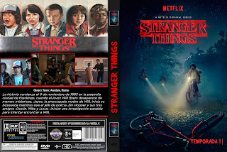 CARATULA STRANGER THINGS TEMPORADA 1 SERIE TV