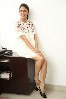 Lavanya Tripathi in Summer Style Spicy Short White Dress at her Interview  Exclusive 119.JPG