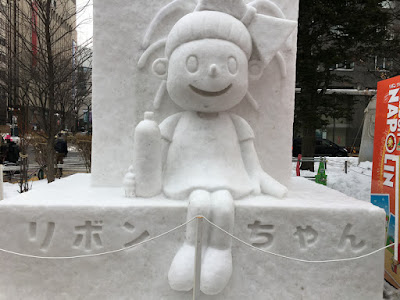リボンちゃんの雪像