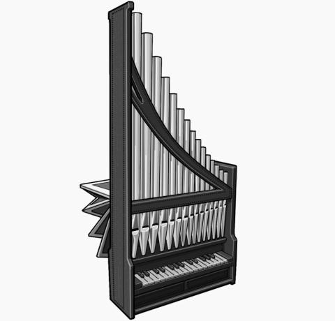 portative organ : European period instrument
