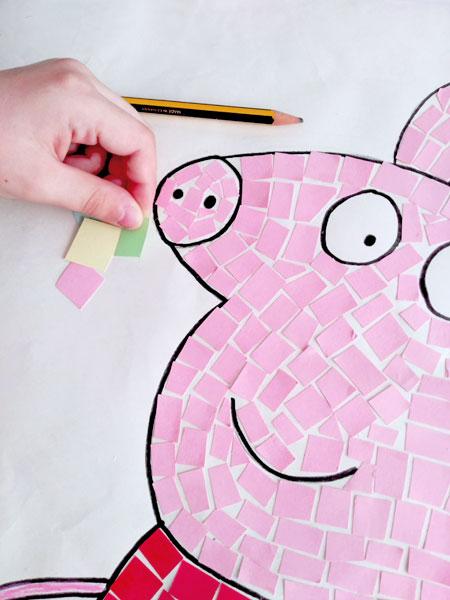 Dibujos decorados con mosaico de papel, una manualidad ideal para ...