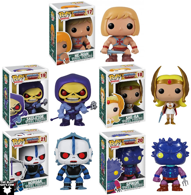 Masters of the Universe Pop! Television Series 1 by Funko - He-Man, Skeletor, She-Ra, Hordak & Spikor Vinyl Figures