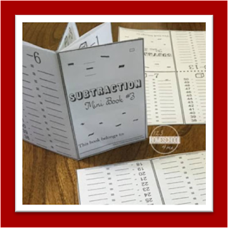 subtraction mini book - subtraction practice