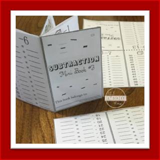 subtraction mini book - subtraction practice