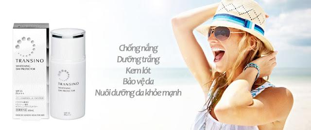 Đánh bật nám bảo vệ da với kem trắng da Transino Whitening chống nắng