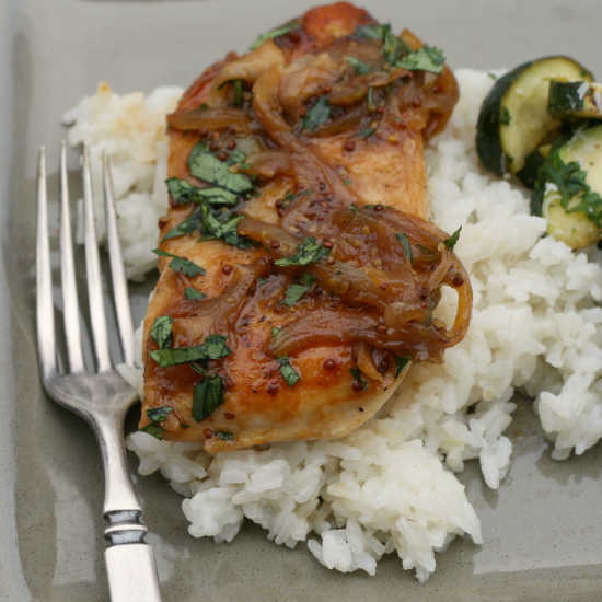 Sweet 'n Tangy Beer-Glazed Chicken
