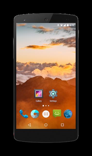 Maru OS rodando em um Nexus 5