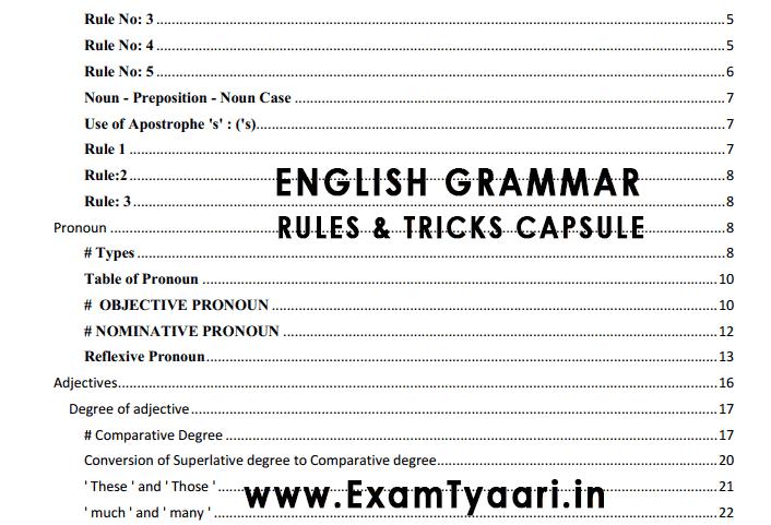 All English Grammar Rules Pdf