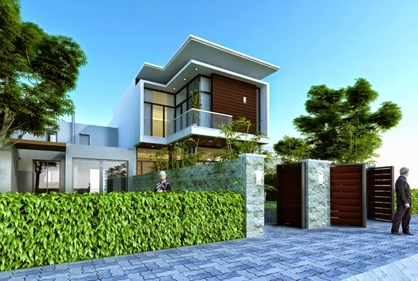 Thiết kế mẫu biệt thự đẹp 2 tầng hiện đại 2 |  Mẫu nhà biệt thự