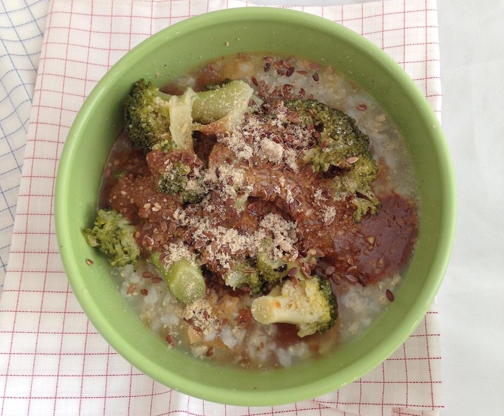 congee riso e broccoli - consulenza macrobiotica