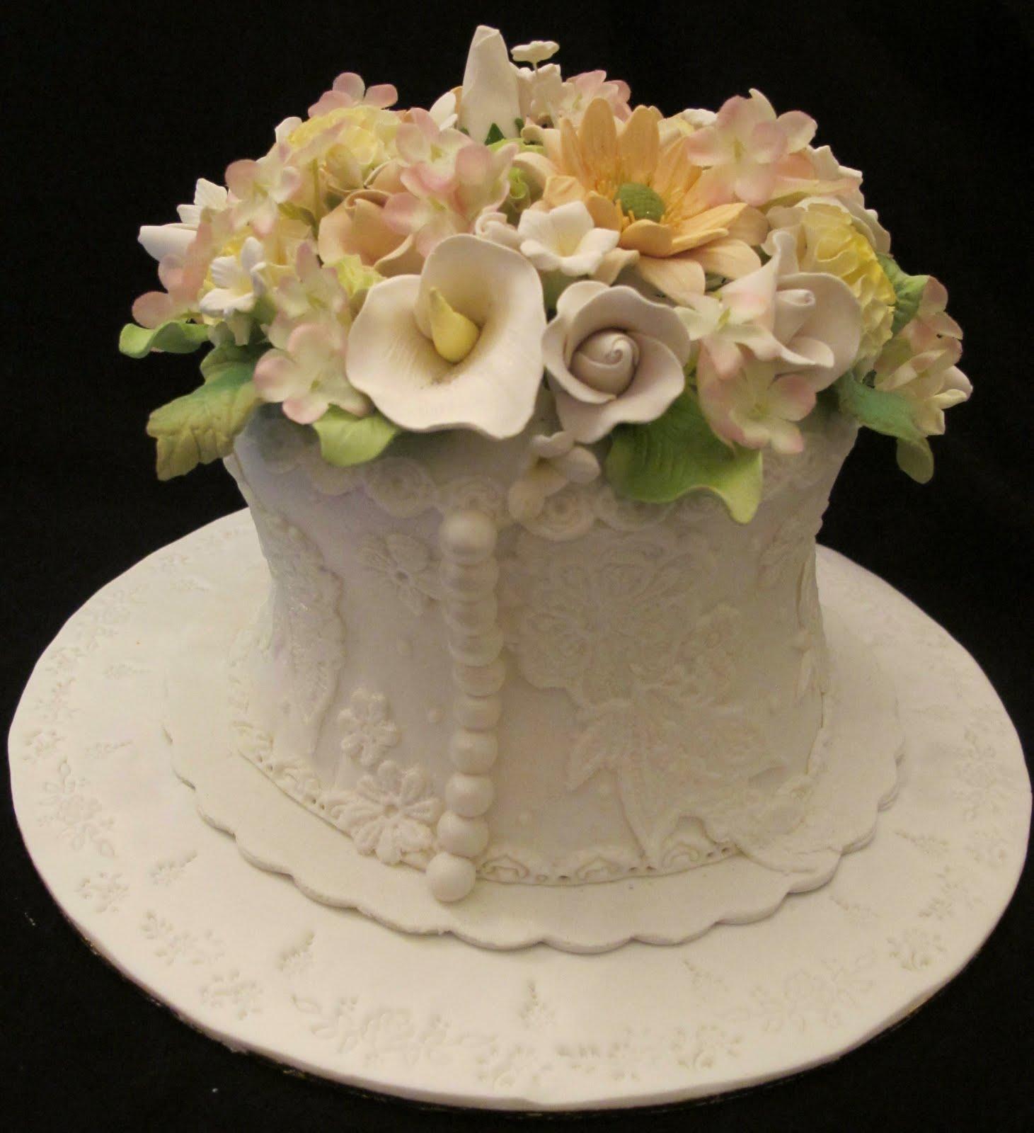 Mycuppycupcake 1 Tier Wedding Cake