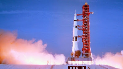 Apollo 11 2019 documentary movie still shuttle taking off for the moon