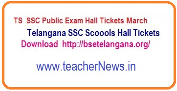TS SSC Hall Tickets 2019 | Telangana 10th Hall tickets March 2019 bsetelangana.org