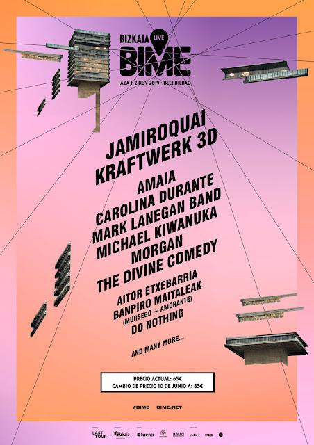 BIME, live, 2019, jamiroquai, kraftwerk, amaia, carolina, durante, kiwanuka