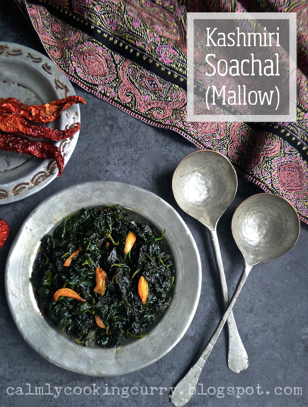 Kashmir, Kashmiri, mallow, recipe, sochal, soachal, vegetable, traditional, easy, india, pakistan, weed, malva, forage, edible,