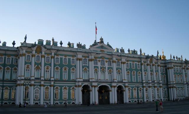 Fachada del Palacio de Invierno que da a la Plaza del Palacio