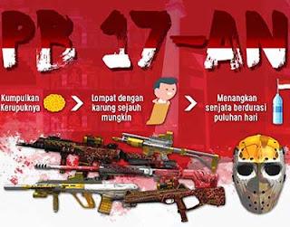 Event 17an PB Garena Balap Karung Hadiah Senjata Gratis dan Cash PB Gratis