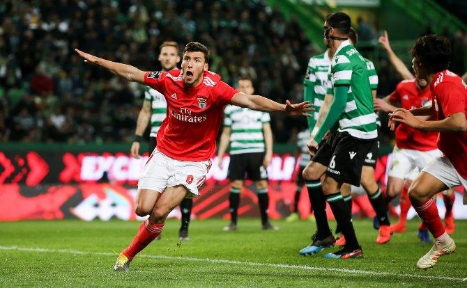 Benfica festejo de Rúben Dias