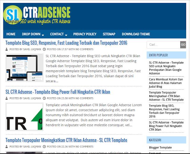 SL CTR Adsense Responsive Blogger Template