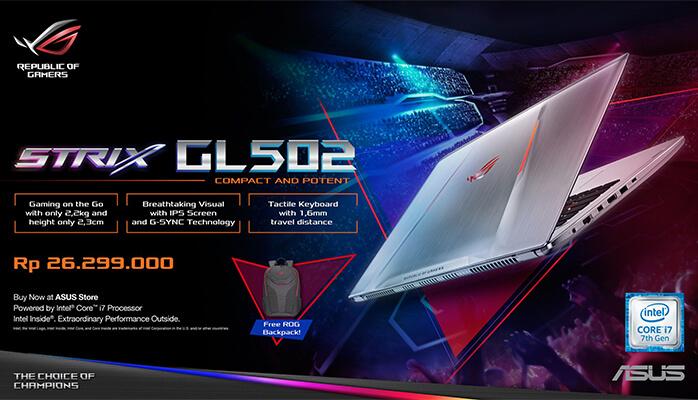 ASUS ROG, Perangkat Sempurna Untuk Gamers Profesional
