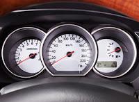White Speedometer