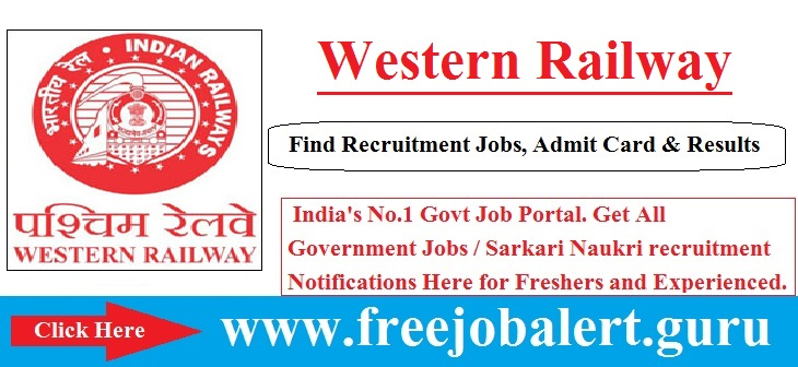 Western Railway Recruitment 2016-17 | 557 Act Apprentice Posts Selection process will be based on Written Test